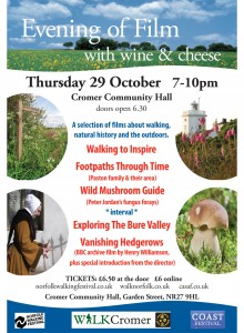 walk cromer film evening - part of the coast and walking festivals