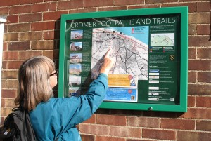 cromer walking map board
