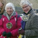 sponsored walk with Val and Hilary