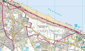 06 Cromer Happy Valley - Overstrand circular via lighthouse, old railway, return beach or clifftop 4.5 miles