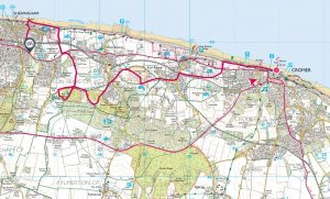 07 Cromer to Sheringham linear (4 hills) Incleborough, Roman Camp, Stone Hill and Beeston Bump 6 miles