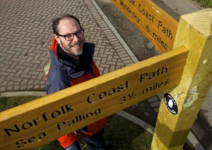 Andrew Hutcheson, Countryside Manager of Norfolk County Council on part of the Coast Path at Happisburgh Beach. Picture: Mark Bullimore