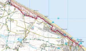 Mundesley to Trimingham linear 3 miles