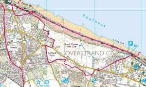 06 Cromer Happy Valley - Overstrand circular via lighthouse, old railway, return beach or clifftop 4.5 miles